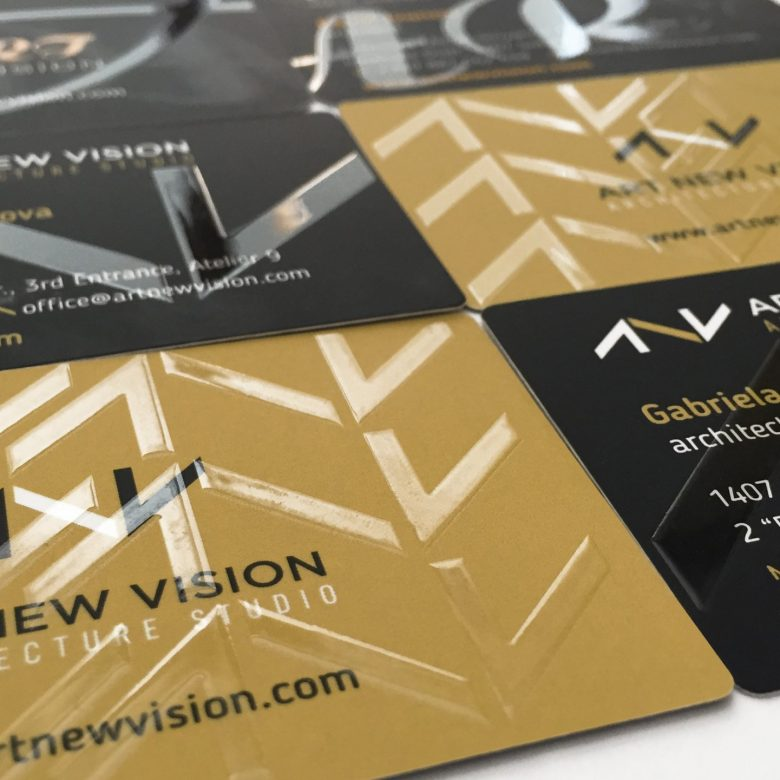 Art New Vision: Business Cards with partial UV varnish