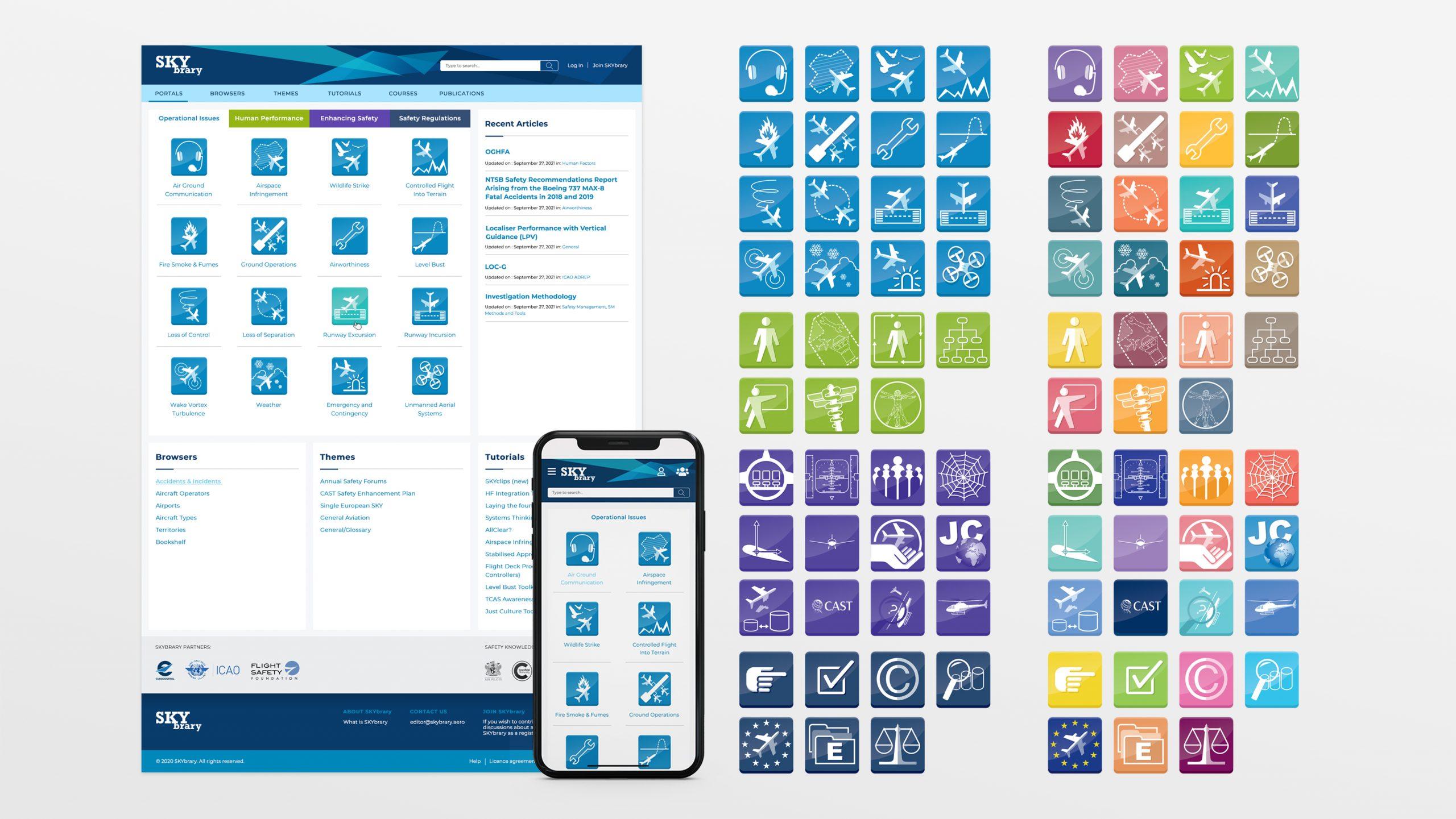 Skybrary Web Site Design